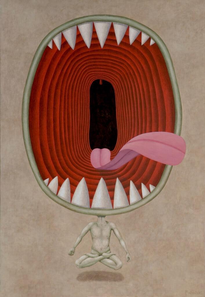 Andrius Miežis. O Gyvenimas 130x90 cm, drobė, akrilas, 2012 m.