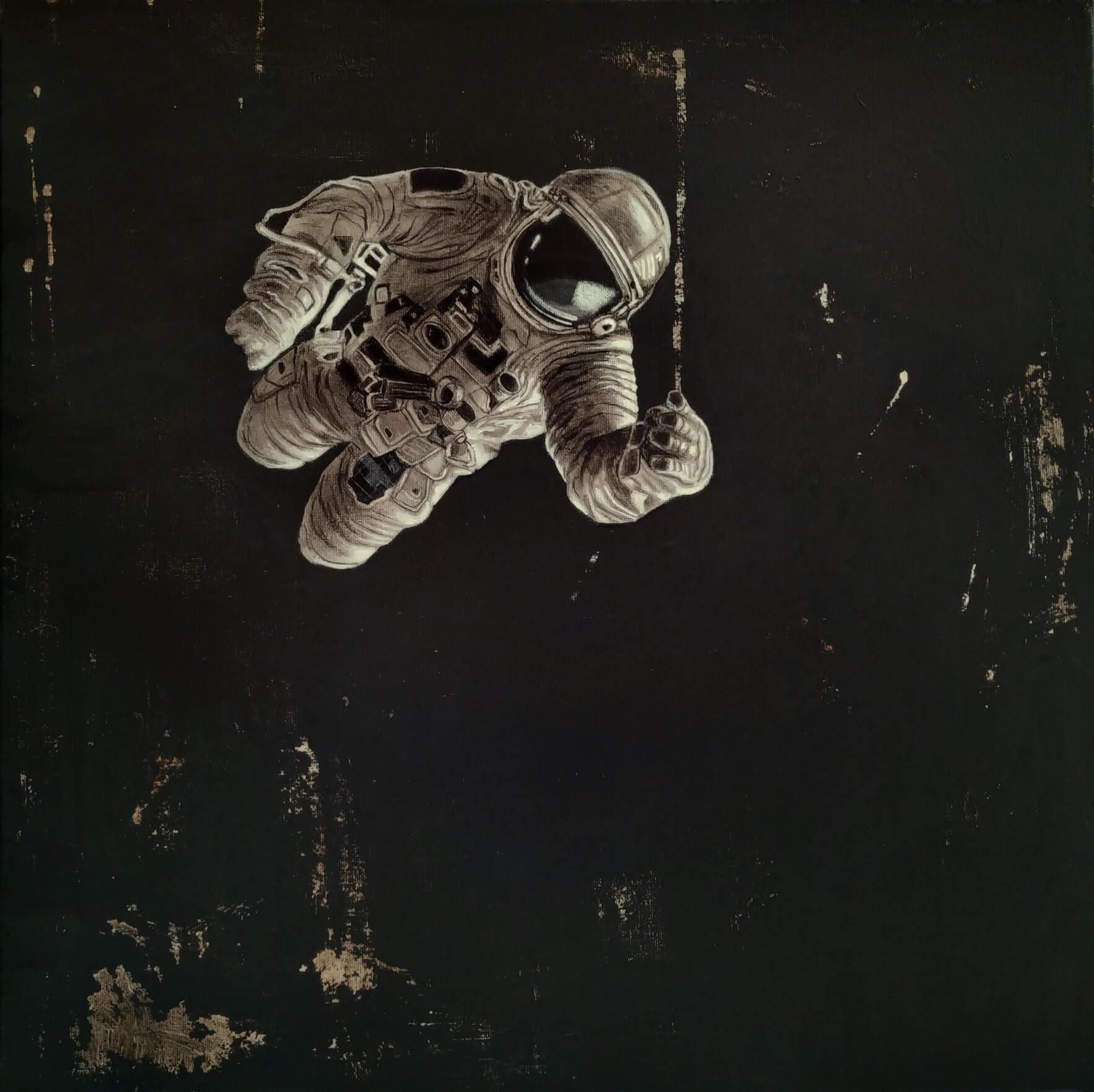 Andrius Miežis. Šviesa (Light) 50 x 50 cm, drobė, akrilas, 2020 m.