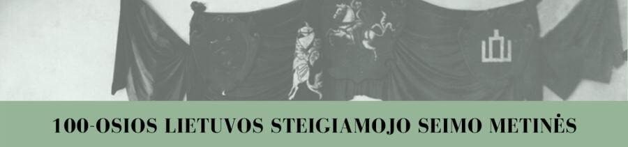 100-osios Lietuvos Steigiamojo Seimo metinės