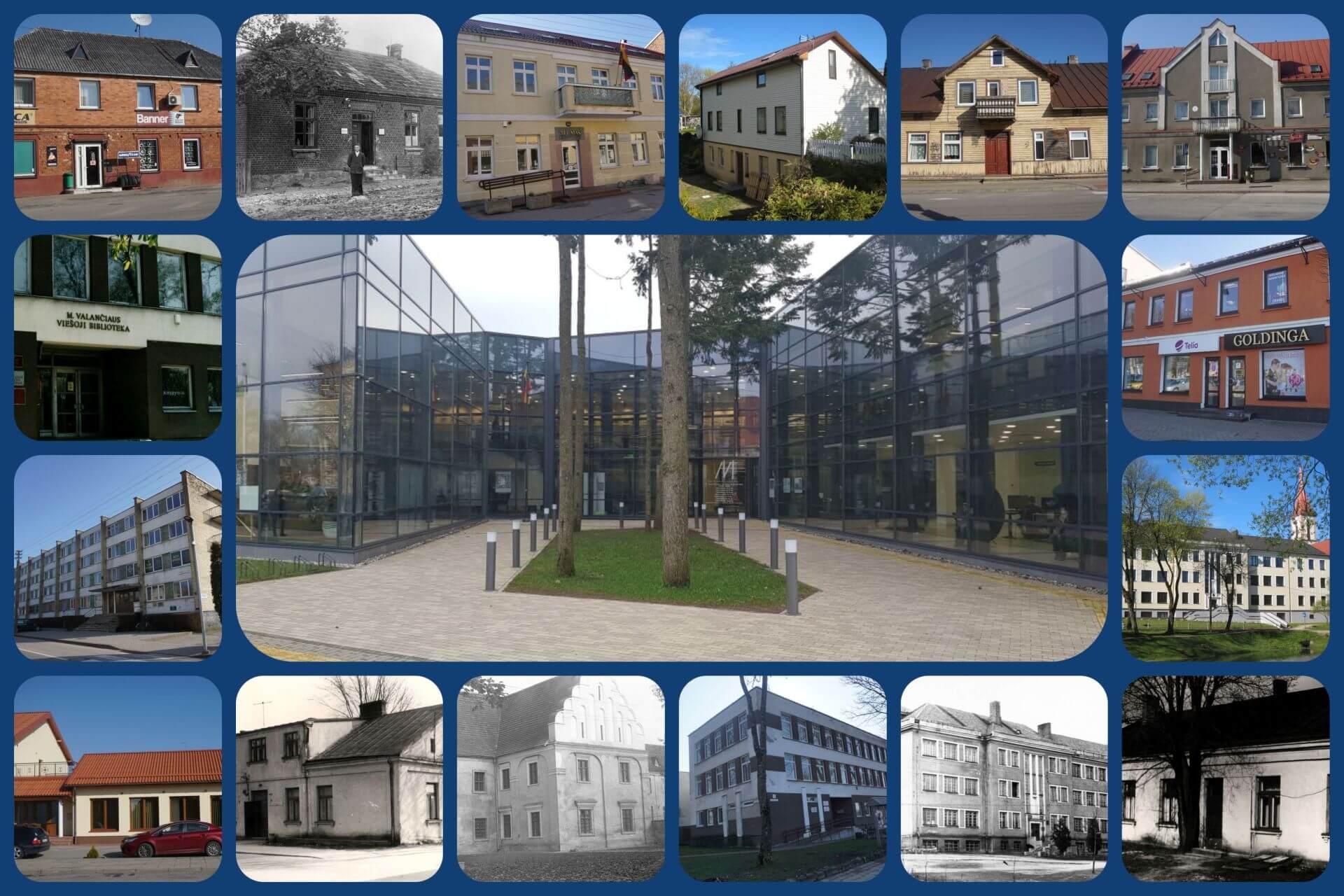 Pastatai, kuriuose veikė Kretingos rajono savivaldybės M. Valančiaus viešojo biblioteka