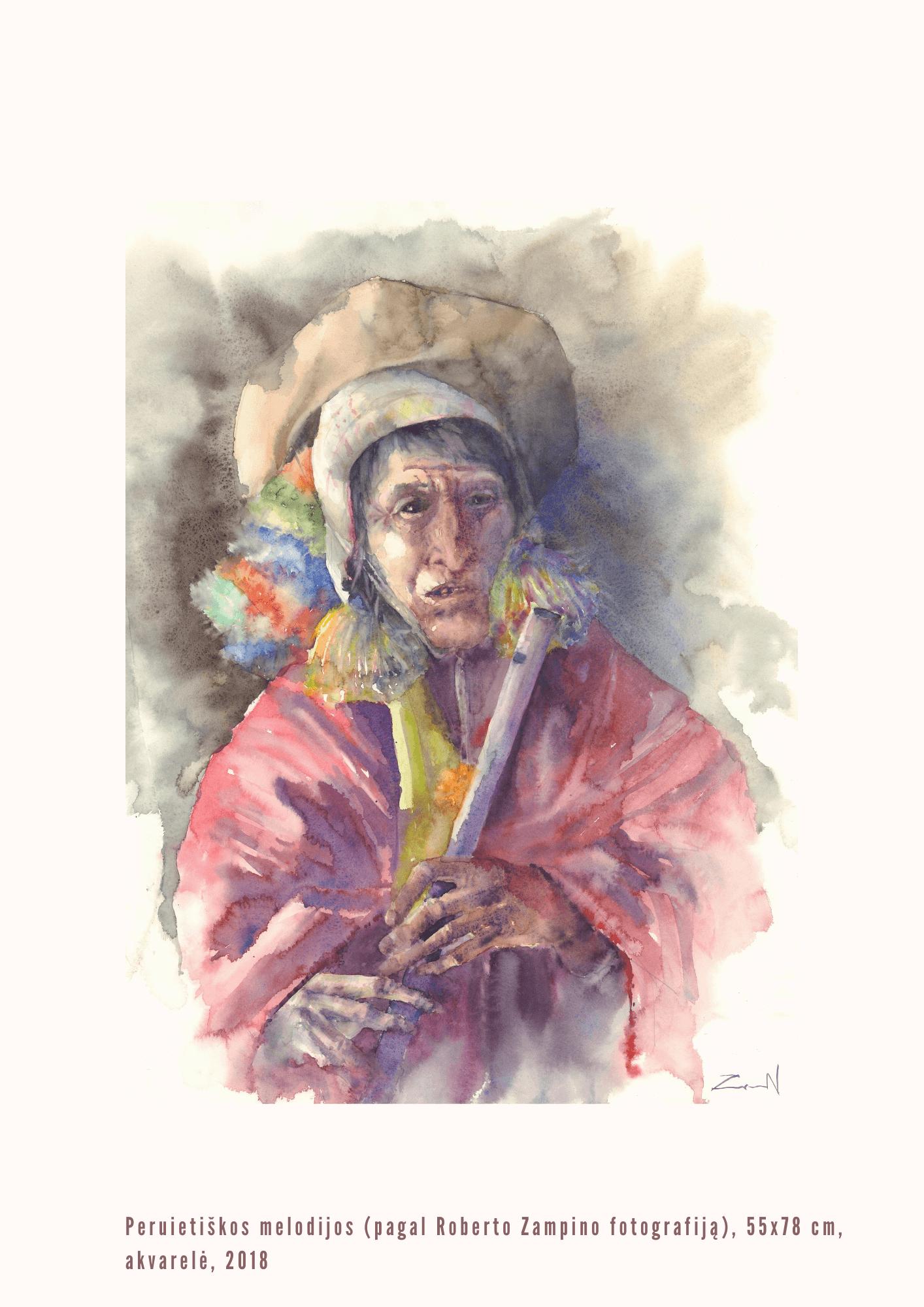 Nijolė Zubienė. Peruietiškos melodijos (pagal Roberto Zampino fotografiją)