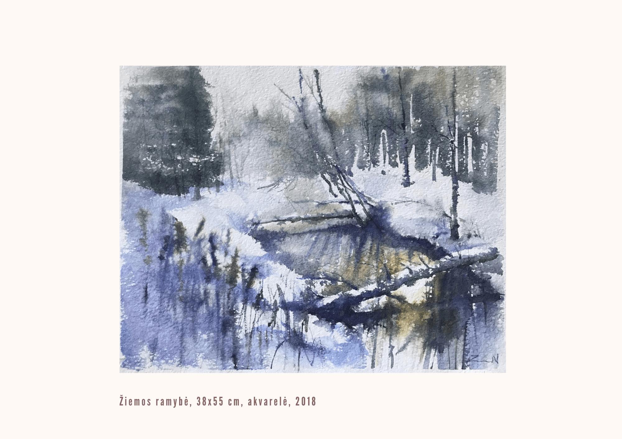 Nijolė Zubienė. Žiemos ramybė
