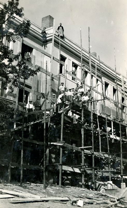 Kretingos pranciškonų gimnazijos baigiamieji statybos darbai