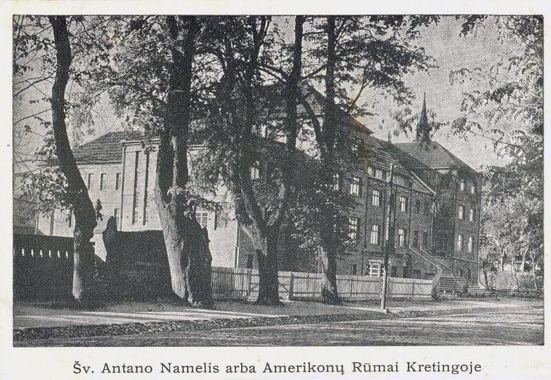 Šv. Antano namelis arba Amerikonų rūmai Kretingoje: atvirukas
