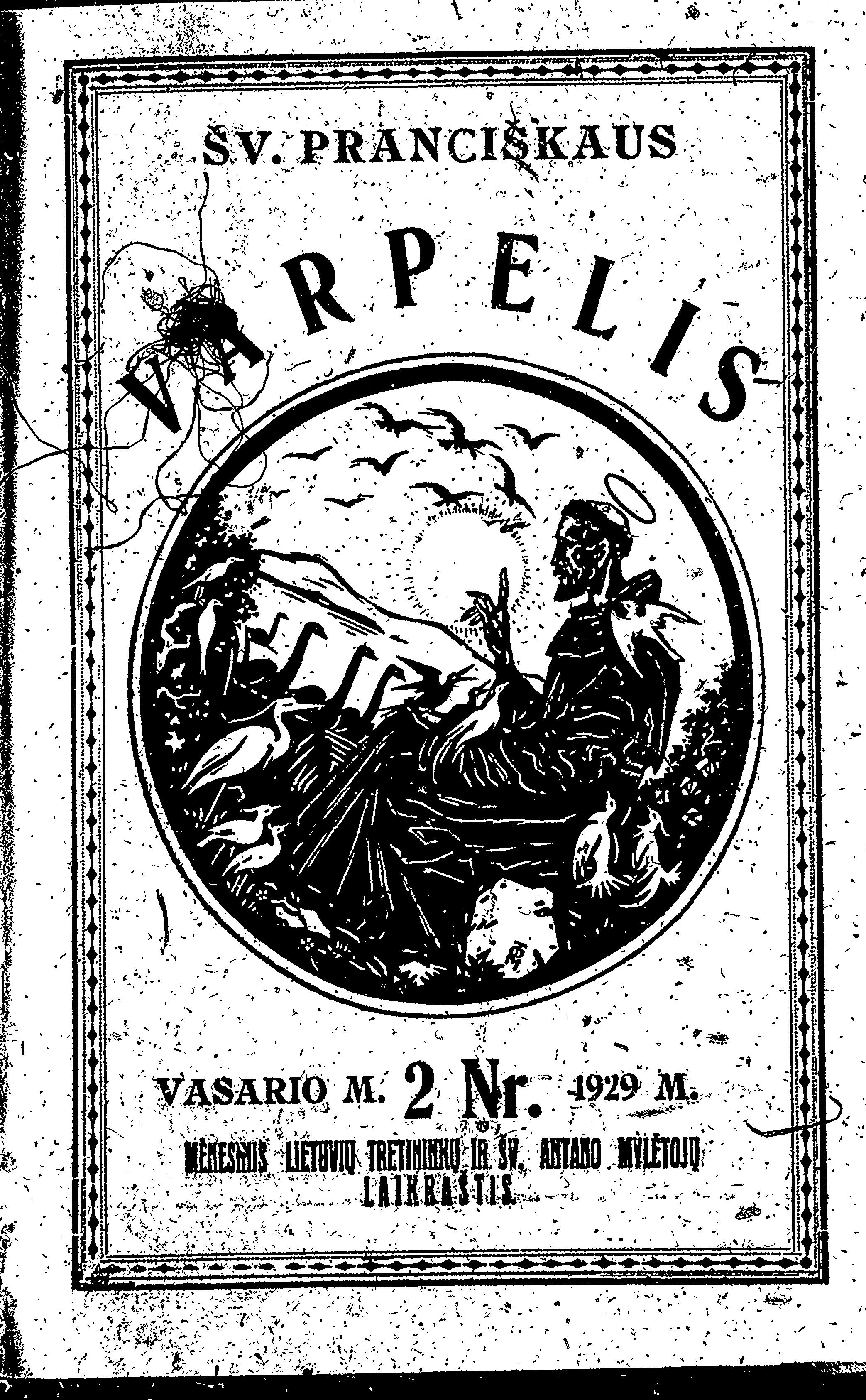 Šv. Pranciškaus varpelis: [žurnalas] Nr. 2 / [red. Augustinas Dirvelė]